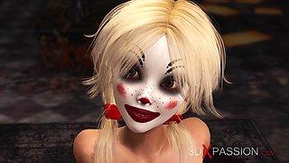 Joker fucks hard a hot sexy blonde in abandone room