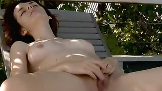 Spy a girl by the pool that got very horny