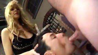 Mistress Makes Sub Suck Cock