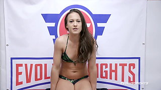 Cheyenne Jewel nude wrestling fight vs Shawn tied and fucked