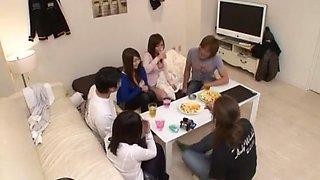 Incredible Japanese slut Aozora Konatsu, Hitomi Kitagawa, Aika Nose in Crazy Showers, Blowjob JAV scene