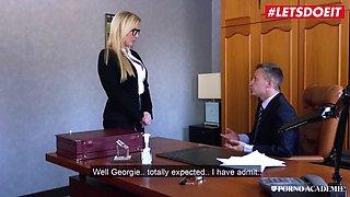 Letsdoeit busty schoolgirl teases &amp seduces her teacher