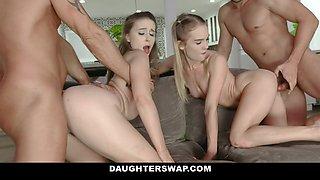 DaughterSwap - Beautiful Teens Suck And Fuck Huge Cock Dads