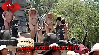 Mexican protest naked
