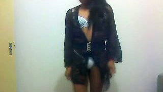 Ebony tranny living in the next block teasing me with kinky videos