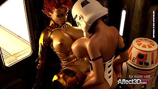 3d animated scifi futa babes having hardcore sex