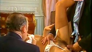 Horny and filthy bitch with nice boobs gets poked hard