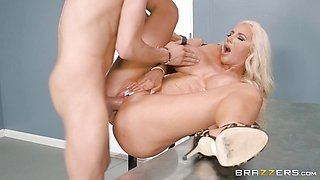 Cutie Nicolette Shea takes on Xanders big thick dick