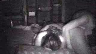 Drunk threesome in my bed with two hot coeds - hidden cam video