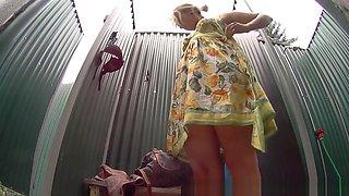 Luxury Teen Blonde Catched in Shower