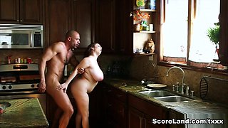 Big-boobed Milly Marks Heats Up The Kitchen - Milly Marks and Carlos Rios - Scoreland