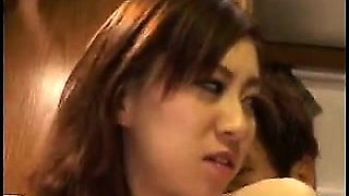 Busty Japanese girl has a horny stud deeply banging her tig
