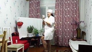 anal fisting, mature nurse