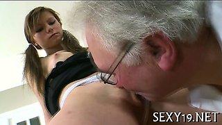 Teacher forcing himself on babe