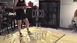 Curvy FBB mixed wrestling