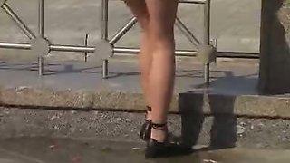 Pee need in public