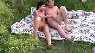Hot amateur ffm threesome on the beach