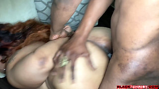 Busty BBW Ebony (Busty 44G Boobs Wants BBC Bangin Out Her Back With A Anal Fucking Facial) 1080p