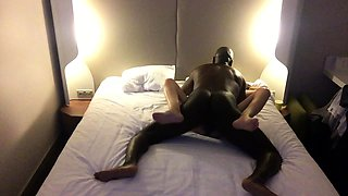 Brunette wife has a black bull hammering her tight pussy