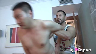Montse cuckolds her husband with a Chinese dude!