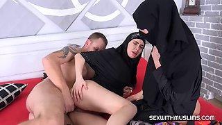 Two muslim girls with big lips