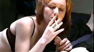 Redhead Smoking BJ