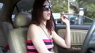 Crazy homemade Car, Smoking sex scene