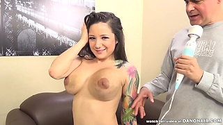 Inked babe Charity Bangs fucks at ImmoralLive HQ