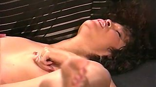 Vintage brunette receives anal drilling by BBC