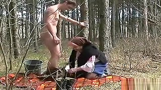 Sexy mature lady is making a perfect Blowjob