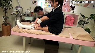 School Student Girl Massage Change Room