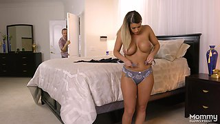 Big breasted Brooklyn Chase gets frisky with a horny lover