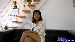 Gorgeous UK babe drilled in POV by senior