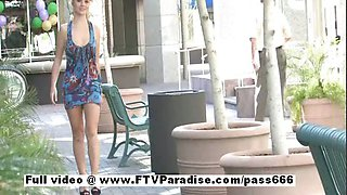 Nicole stunning amateur blonde babe public flashing