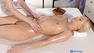 Paula Shy gets massaged by a sexy blonde and they have passionate sex