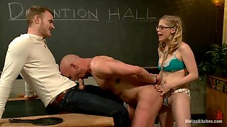 Chad Rock and Christian Wilde get dominated by a blonde in college