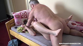 Fresh naughty young chick Nana Garnet is hammered mish and doggy by older man