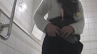 Toilet spy camera shot beautiful amateur asses close up