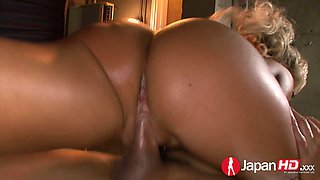 Japanese whorish milf Rina Aina is fucked by two dudes