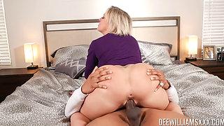 Busty Blonde MILF Dee Fucks Her Blackk Delivery Guy