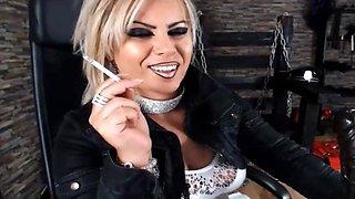 smoking lipstick spit mistress