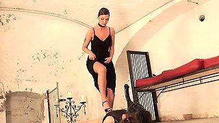 Sexy German femdom mistress loves having fun as she is