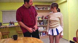 STP3 father catches her masturbating fucks her so!