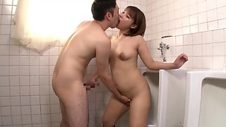 Chubby Cute Girl Get Fuck in Public Toilet