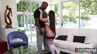 curvy babysitter lola foxx punished by bbc for being naughty