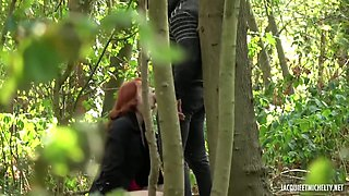 Red haired bitch in erotic, lacy lingerie, Alex had steamy sex witht wo of her friends