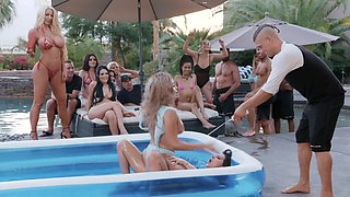 Aaliyah Hadid & Ashley Adams & Bridgette B & Gina Valentina & Karma Rx & Katrina Jade & Kira Noir & Kissa Sins & Lela Star & Lena Paul in Brazzers House 3: Episode 1 - BRAZZERS
