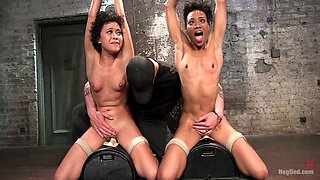 Mia Austin & Nikki Darling & The Pope in Double Your Pleasure Double Your Fun - HogTied