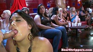 CFNM babe facejizzed at bachelorette party