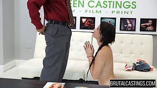 Teen Mandy Sky humiliated and abused on brutal casting